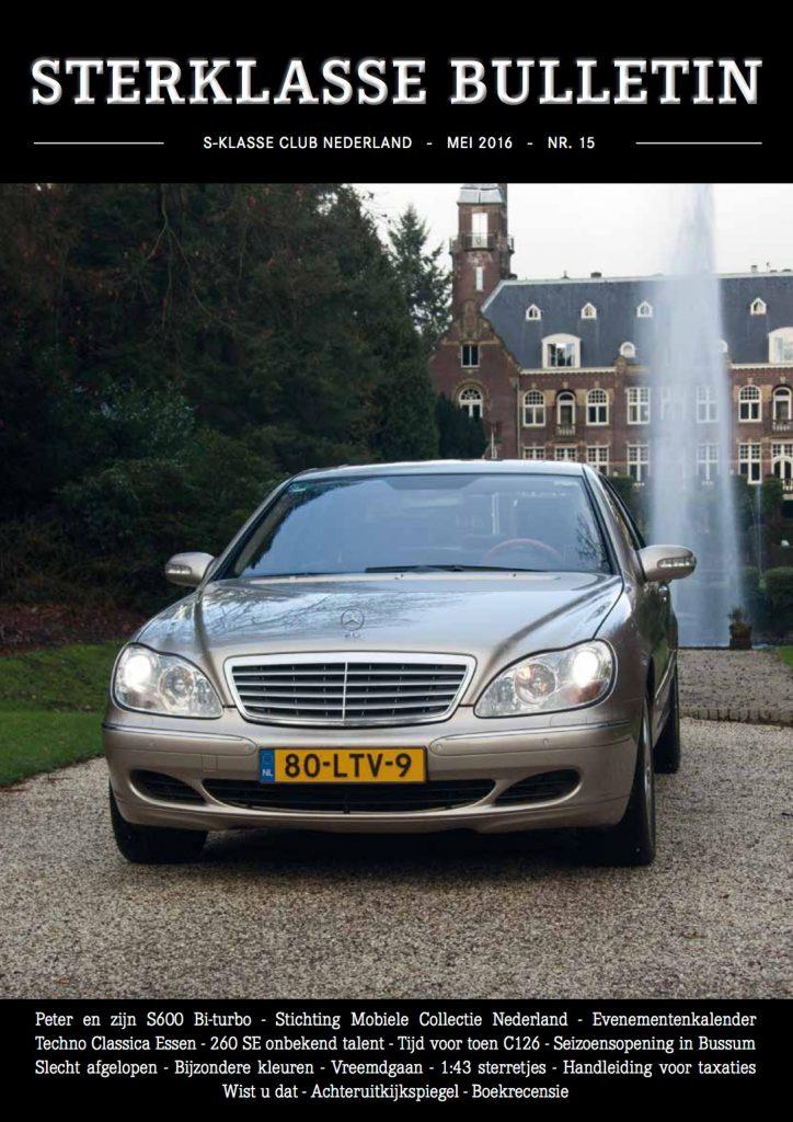Sterklasse Bulletin 15 SKCN Mercedes-Benz S-Klasse Club Nederland