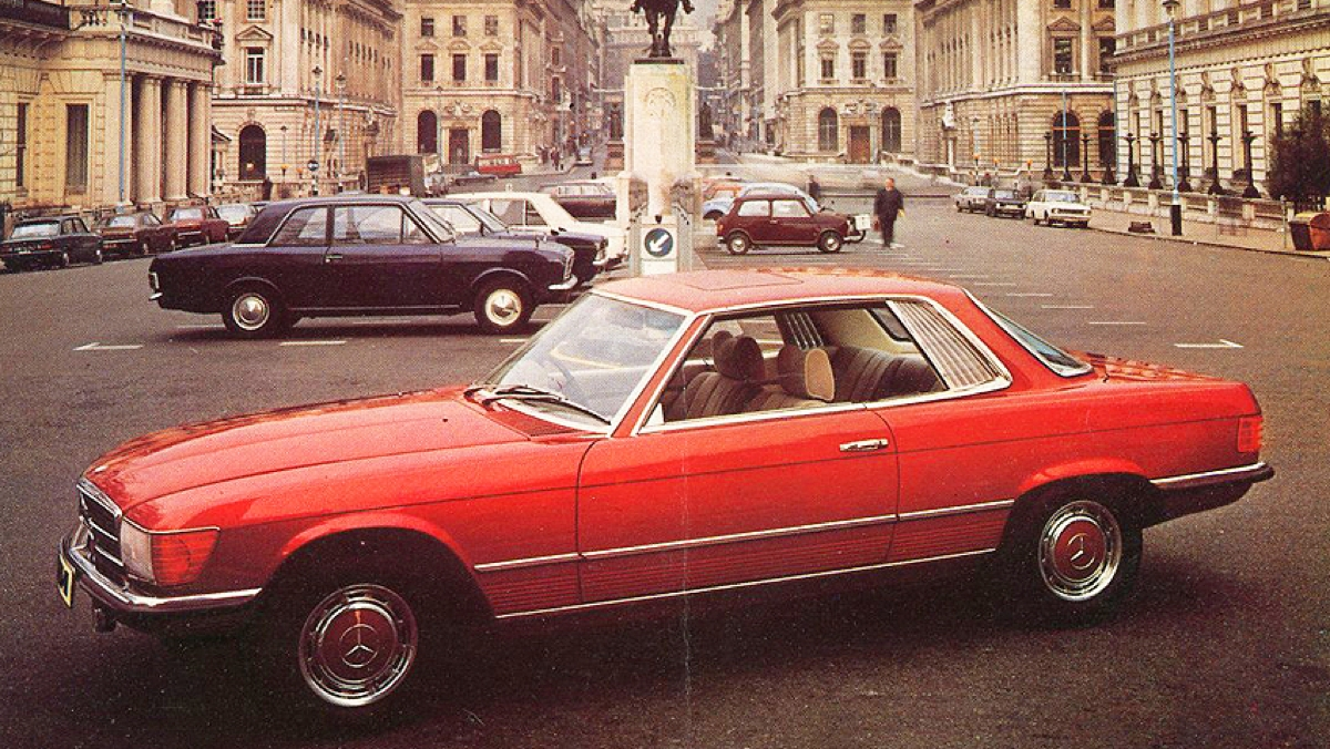 Mercedes-1974-450SLC-Stamtafel-Baarn-1-juli-2017-Mercedes-Benz-S-Klasse-Club-Nederland-jaaragenda-2017