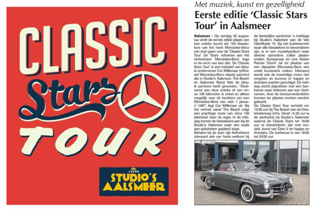 1e editie Classic Stars Tour 30 aug. 2015-nieuws-Mercedes-Benz-S-Klasse-Club-Nederland