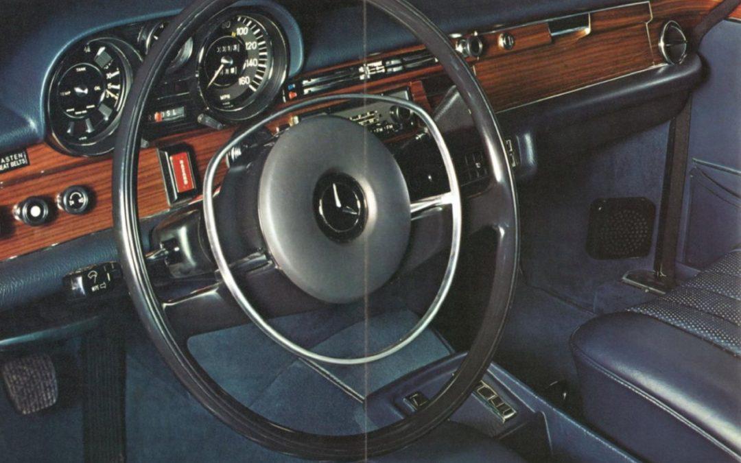 S-Klasse in een Amerikaanse brochure 1972