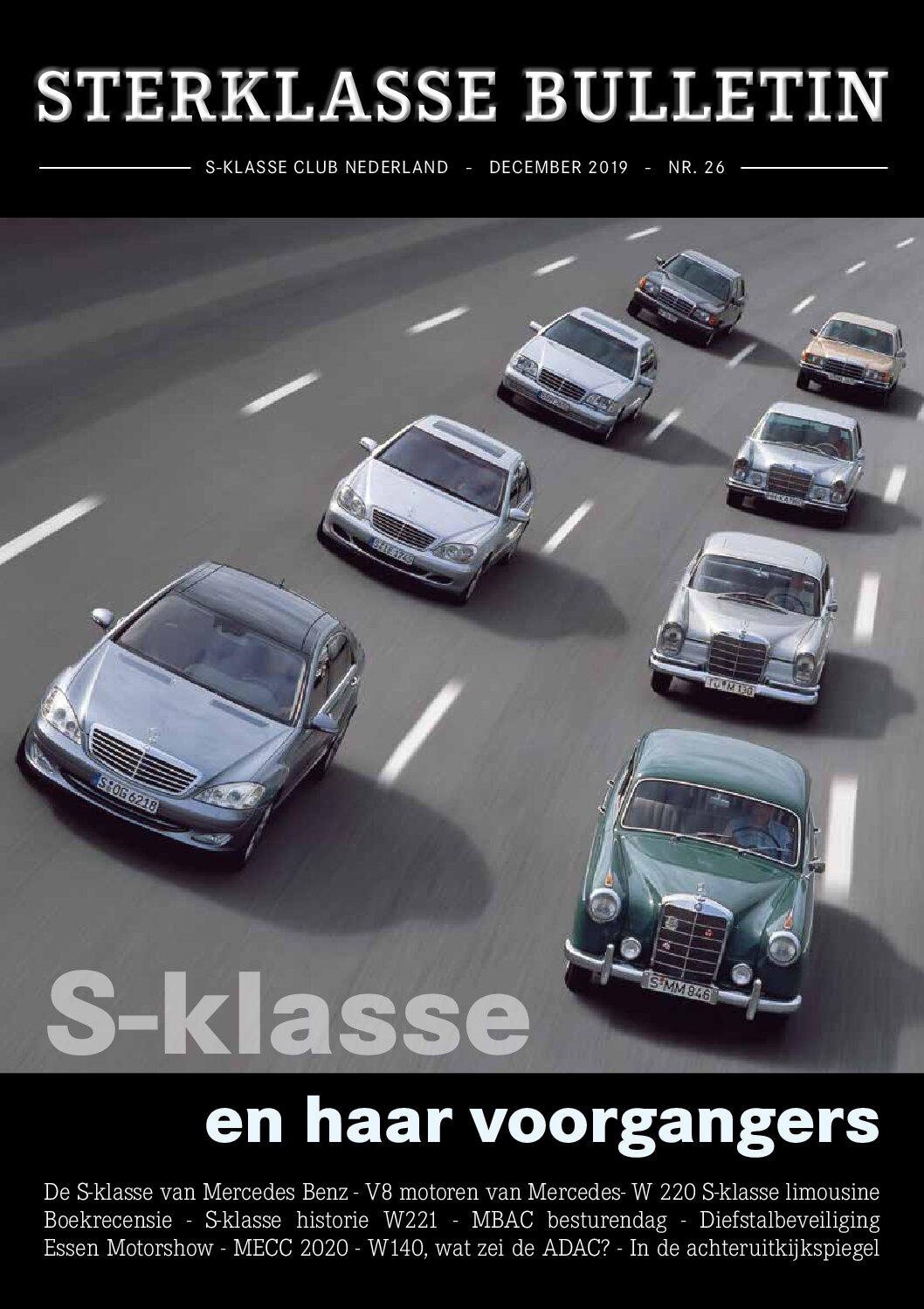 Sterklasse Bulletin 13 SKCN Mercedes-Benz S-Klasse Club Nederland